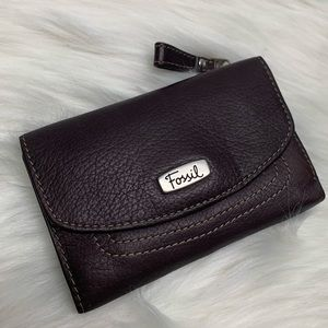 Fossil Genuine Leather Trifold Wallet